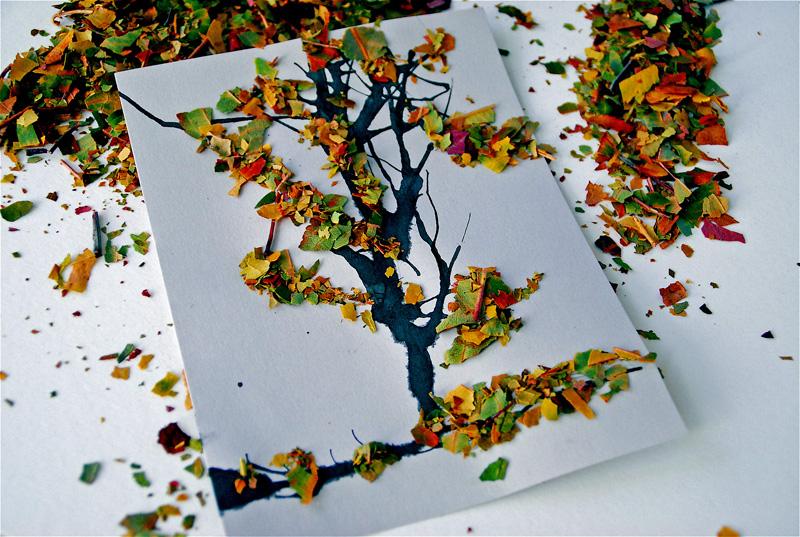 Поделка из семян деревьев