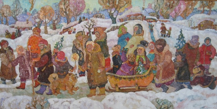 Картинки по запросу рождество художники