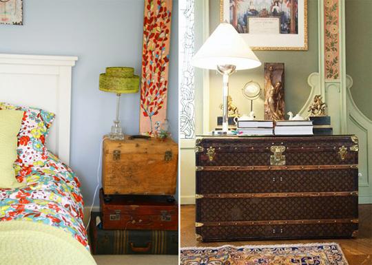Старый добрый чемодан в интерьере