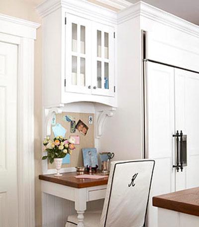 Маленький рабочий стол на кухне