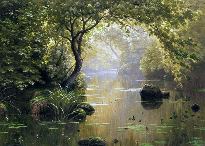 пейзажи художник Charles Edmond Rene-His - 13