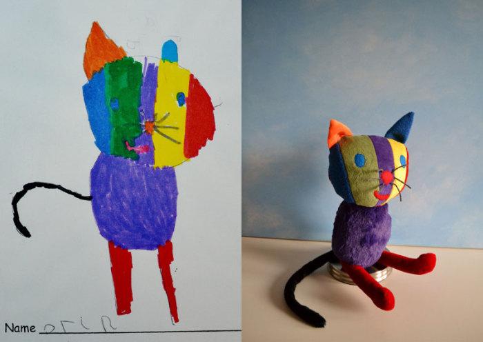Разноцветный котик.