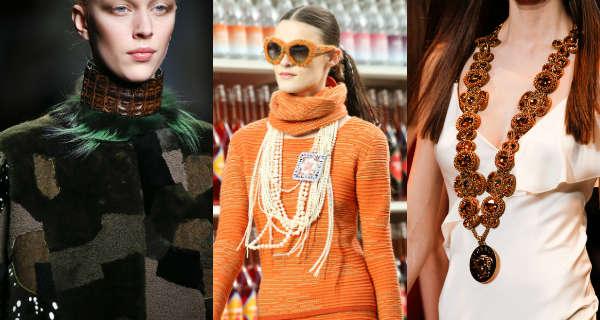 Модные украшения для шеи осень-зима 2014-2015