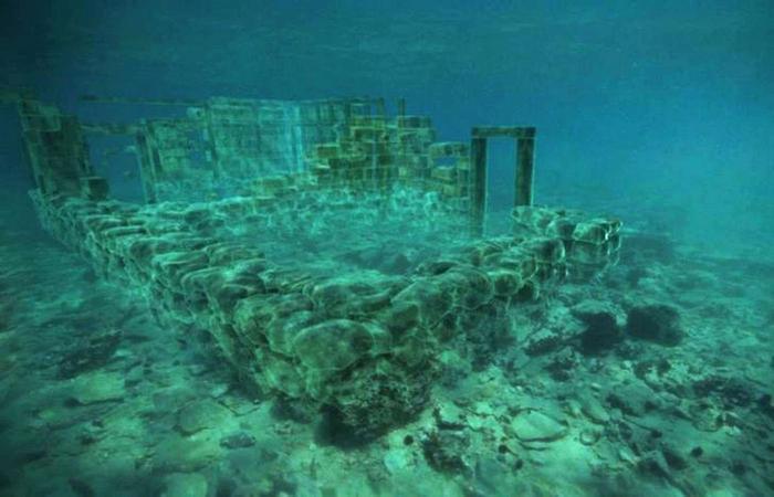 Underwater: cidade Pavlopetri.