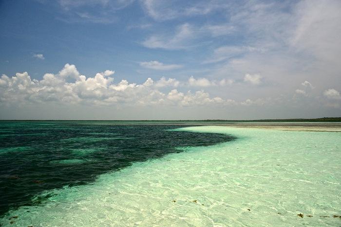 место где встречаются карибское море и атлантический океан фото где