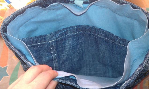 Модная сумка из старых джинсов, фото № 19