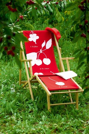 Палуба с красной вишни, как ботанический пластины окрашены в белый цвет
