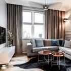 Дизайн двухкомнатной квартиры в приглушенных тонах