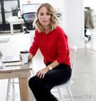 Как носить свитер в офис?