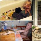 19 веселых фотографий, доказывающих, что здоровый сон может настигнуть где угодно
