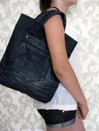 Мастер-класс по пошиву хозяйственной сумки из старых джинсов