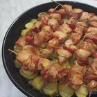 Вкусные шашлыки из курицы в духовке с картошкой