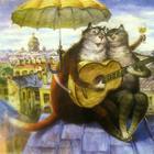 Питерские коты: акварельные мурлыки, которые принесли мировую известность Владимиру Румянцеву