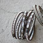 Создаем браслет-намотку из чешских граненых бусин и японского бисера
