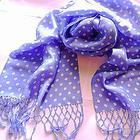 Батистовый шарфик с бахромой