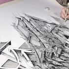 Очаровательная девушка из Японии рисует архитектуру, и это — вау!
