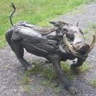 Скульптуры животных из коряг