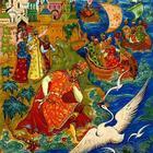 Иллюстрации Александря Куркина - художника из Палеха - к сказкам