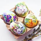 Декупаж яиц к пасхе, просто и быстро!