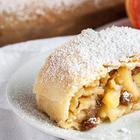 Венский яблочный штрудель | Правильное тонкое тесто на штрудель с яблоками и корицей