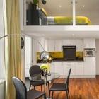 Дизайн двухуровневой студии площадью 28 кв. м.