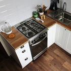 Шестиметровая кухня в скандинавском стиле