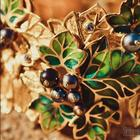 Создаем изысканный комплект украшений «чёрная смородина»