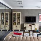 Квартира с зеркальным панно в высотке на «Беговой»