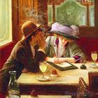 В  кафе  субботним  вечером