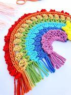 17 радужных идей для вязания крючком