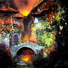 Болгарский художник пишет удивительно живые и яркие картины с домами
