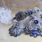 Вышиваем свадебное сутажное колье «Прибой» с кристаллами Swarovski
