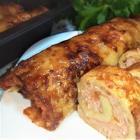 Рулеты из картофеля с мясом и сыром запеченные в духовке