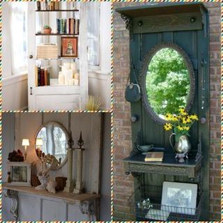 Идеи повторного использования старых дверей