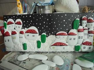 Новогодние подарки своими руками (морские камушки)