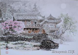 Корейская живопись. Хон Сон Мо, Осан - Hong Sung Mo, Osan (홍성모, 오산).   Республика Корея