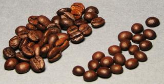 Делаем божью коровку из кофейного зёрнышка