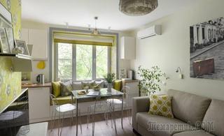 Крошечная квартирка в Москве, где на 23 м² живет весна