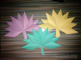 Кленовый лист, школьные поделки.