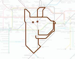 Животные в лондонском метро
