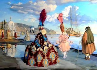 Венецианский карнавал: атмосферные работы Андрея Потеряйло