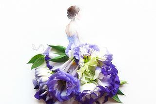 Рисунки из цветов и акварели