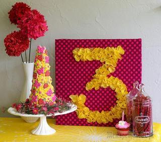 Цифры на день рождения своими руками