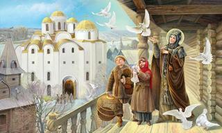 Иллюстрации Натальи Климовой к житиям святых для детей.Часть 1-я.Святые жены