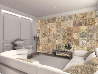 Вместо обоев: декорируем стены креативными коллажами