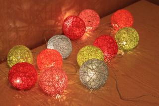 Делаем гирлянду с шарами из ниток