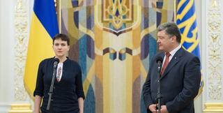 Савченко призвала Порошенко уступить президентское кресло Януковичу