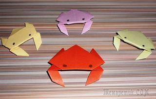 Оригами краб. Как сделать из бумаги