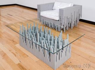 Необычная мебель из труб
