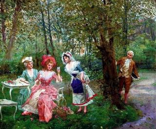 Галантный век: кокетливые дамы и учтивые кавалеры на картинах Мариано Алонсо Переса